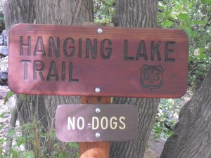 Hanging Lake Signpost